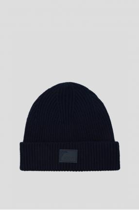 Женская темно-синяя шапка