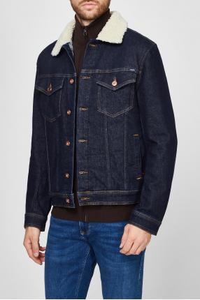 Чоловіча темно-синя джинсова куртка 1
