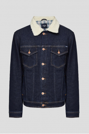 Чоловіча темно-синя джинсова куртка
