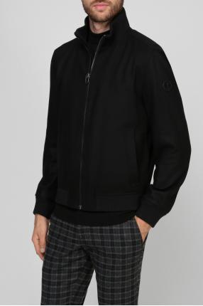 Чоловіча чорна вовняна куртка 1