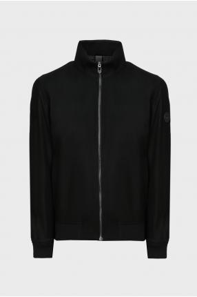 Чоловіча чорна вовняна куртка