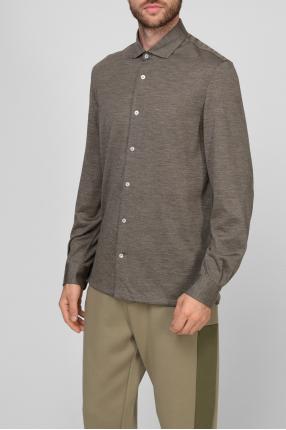 Мужская серая шерстяная рубашка 1