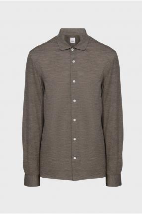 Мужская серая шерстяная рубашка