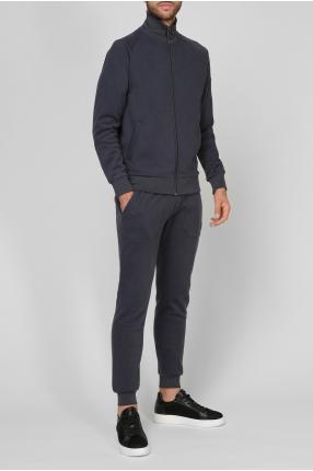 Чоловічий синій спортивний костюм (кофта, брюки) 1