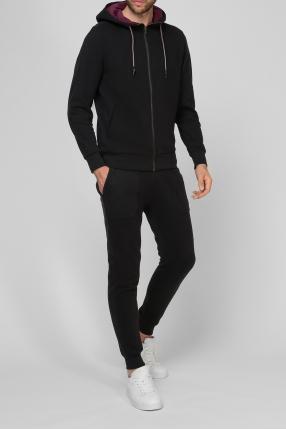 Чоловічий чорний спортивний костюм (худі, брюки) 1