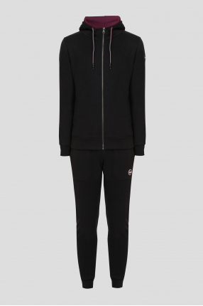 Чоловічий чорний спортивний костюм (худі, брюки)