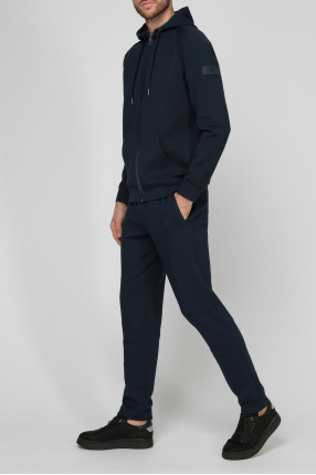 Мужской синий спортивный костюм (худи, брюки) 1