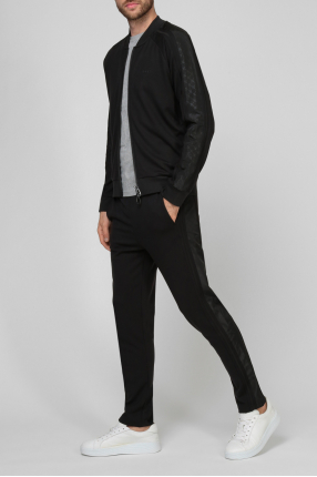 Чоловічий чорний спортивний костюм (кофта, брюки) 1