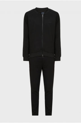Чоловічий чорний спортивний костюм (кофта, брюки)