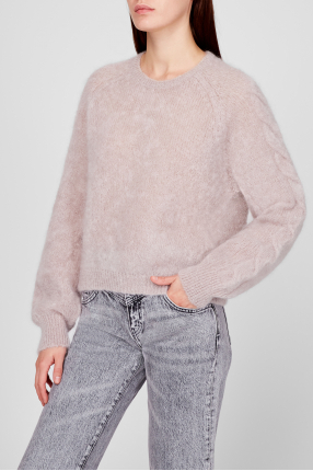 Женский серый шерстяной свитер 1