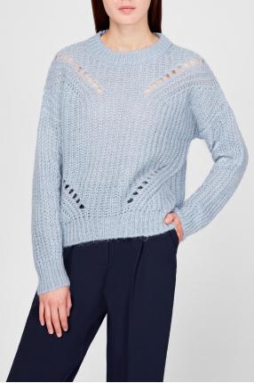 Женский голубой свитер 1