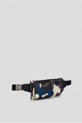 Мужская кожаная поясная сумка 1