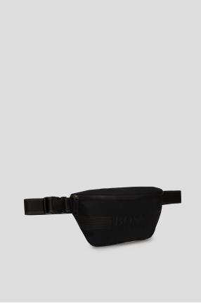 Мужская черная поясная сумка 1