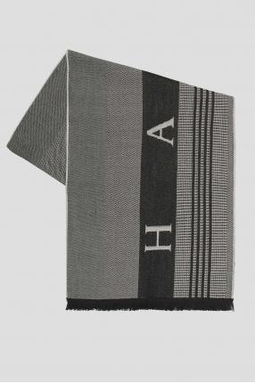 Мужской шерстяной шарф с узором