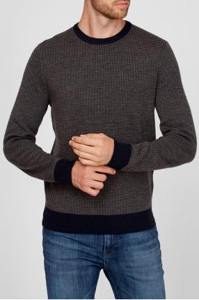 Мужской серый шерстяной джемпер 1