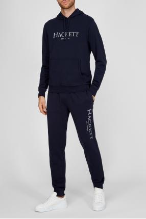 Чоловічий синій спортивний костюм (худі, брюки) 1