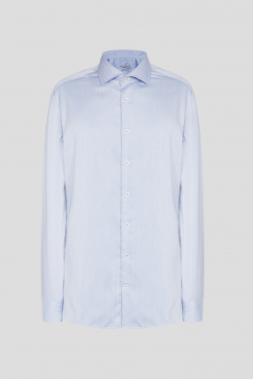 Чоловіча блакитна сорочка у смужку