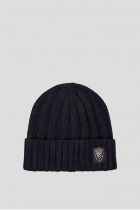 Мужская темно-синяя шапка