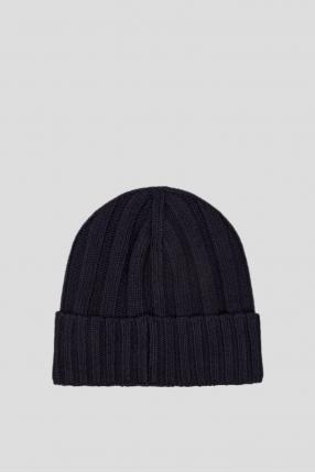 Мужская темно-синяя шапка 1