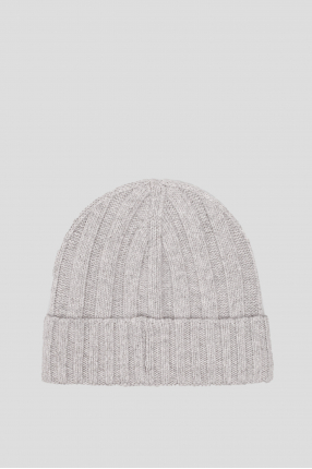 Мужская серая шапка 1