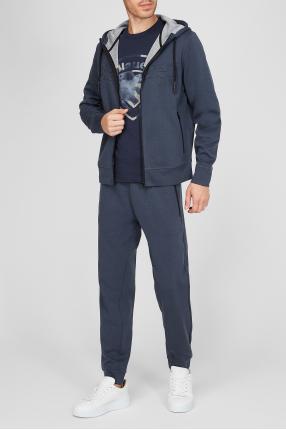 Чоловічий синій спортивний костюм (худі, штани) 1
