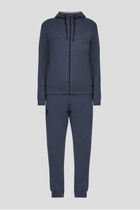 Чоловічий синій спортивний костюм (худі, штани)