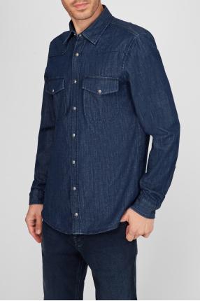 Чоловіча синя джинсова сорочка 1