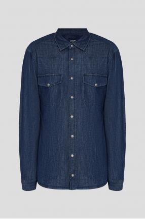 Чоловіча синя джинсова сорочка