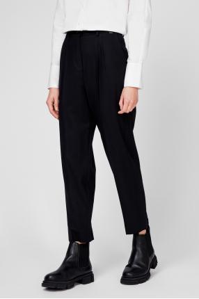 Женские черные шерстяные брюки 1