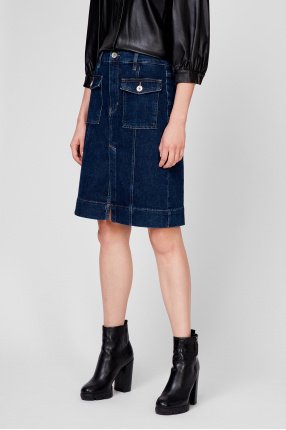 Женская синяя джинсовая юбка 1