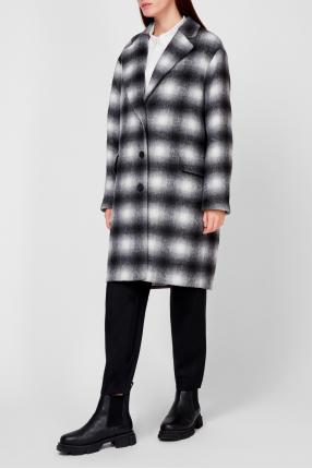 Женское пальто в клетку 1