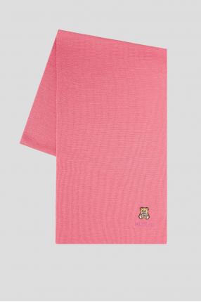 Женский розовый шерстяной шарф