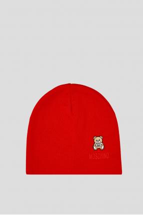 Женская красная шерстяная шапка