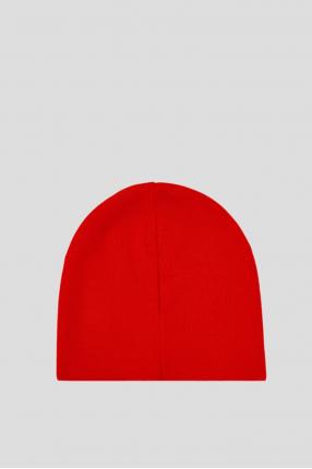 Женская красная шерстяная шапка 1