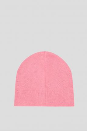 Женская розовая шерстяная шапка 1