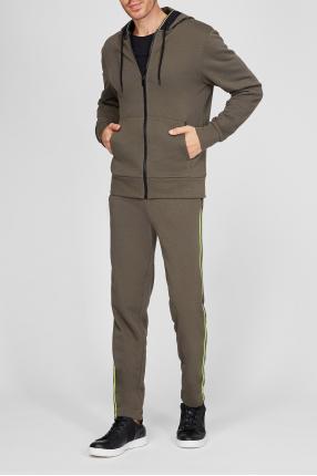 Чоловічий зелений спортивний костюм (худі, штани) 1