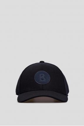 Чоловіча темно-синя вовняна кепка