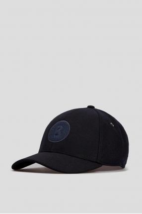 Чоловіча темно-синя вовняна кепка 1