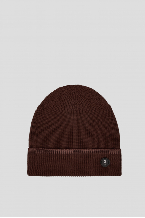 Мужская коричневая шерстяная шапка