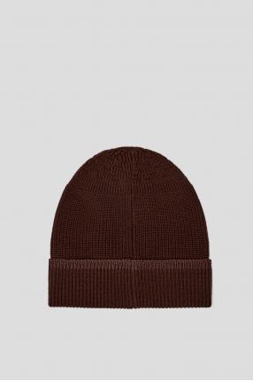 Мужская коричневая шерстяная шапка 1