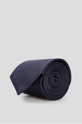 Чоловіча синя шовкова краватка
