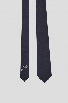Чоловіча синя шовкова краватка 1
