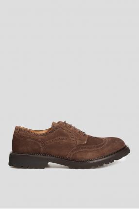 Мужские коричневые кожаные броги