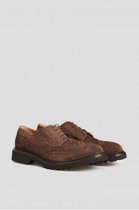 Мужские коричневые кожаные броги 1