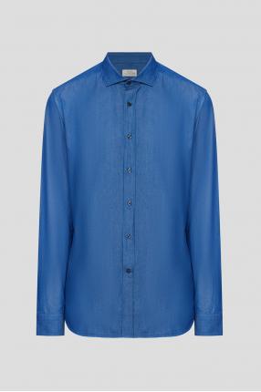 Чоловіча синя сорочка