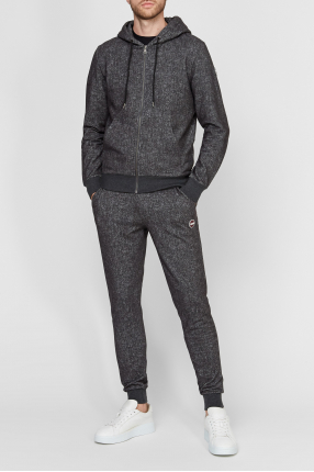 Чоловічий сірий спортивний костюм (худі, штани) 1
