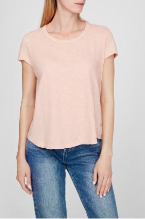 Женская пудровая футболка 1