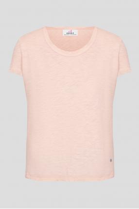 Женская пудровая футболка