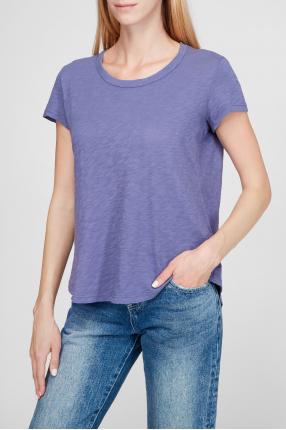 Женская фиолетовая футболка 1