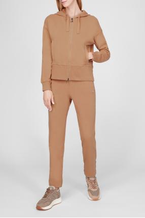 Женский бежевый спортивный костюм (худи, брюки) 1